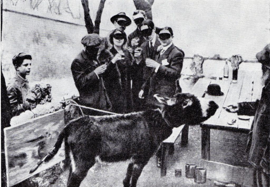 Boronali's Donkey Painting a picture